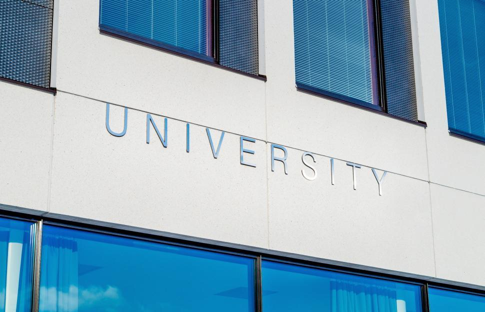 Download Free Stock HD Photo of University steel signage Online