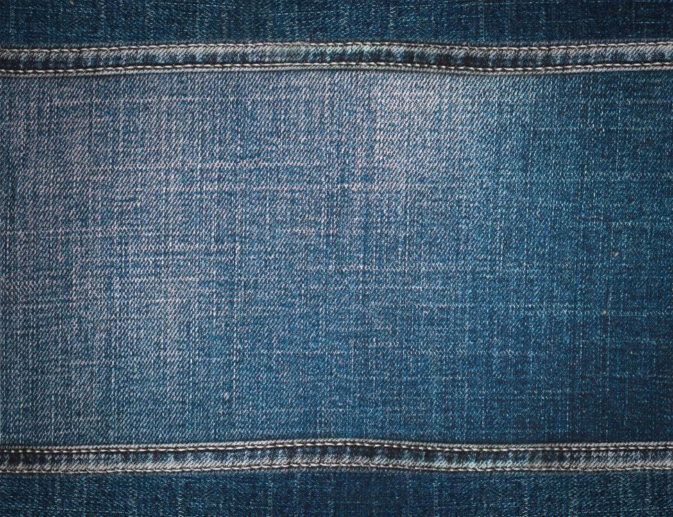 Download Free Stock Photo of Close up of a denim jeans fabric