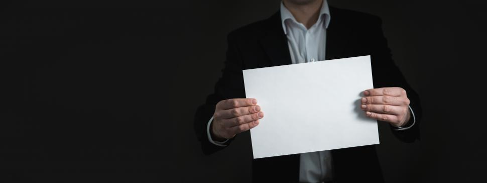 Download Free Stock HD Photo of A business with a blank sheet of paper Online