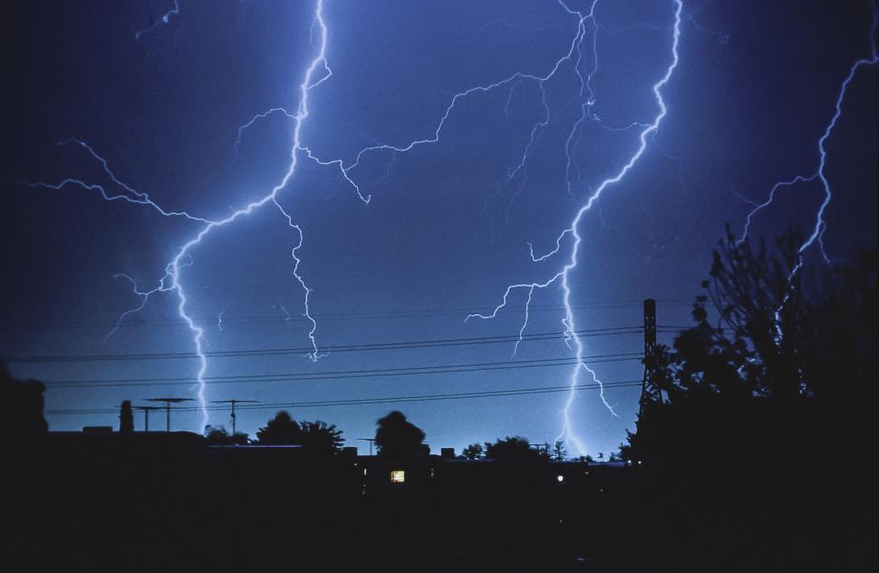 Download Free Stock Photo of Storm Glow and Lighting
