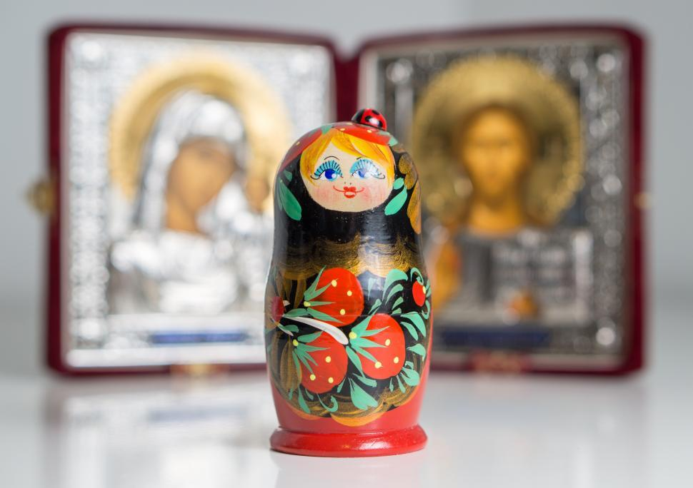 Download Free Stock HD Photo of Beautiful Colorful Russian Nesting Doll matryoshka Online