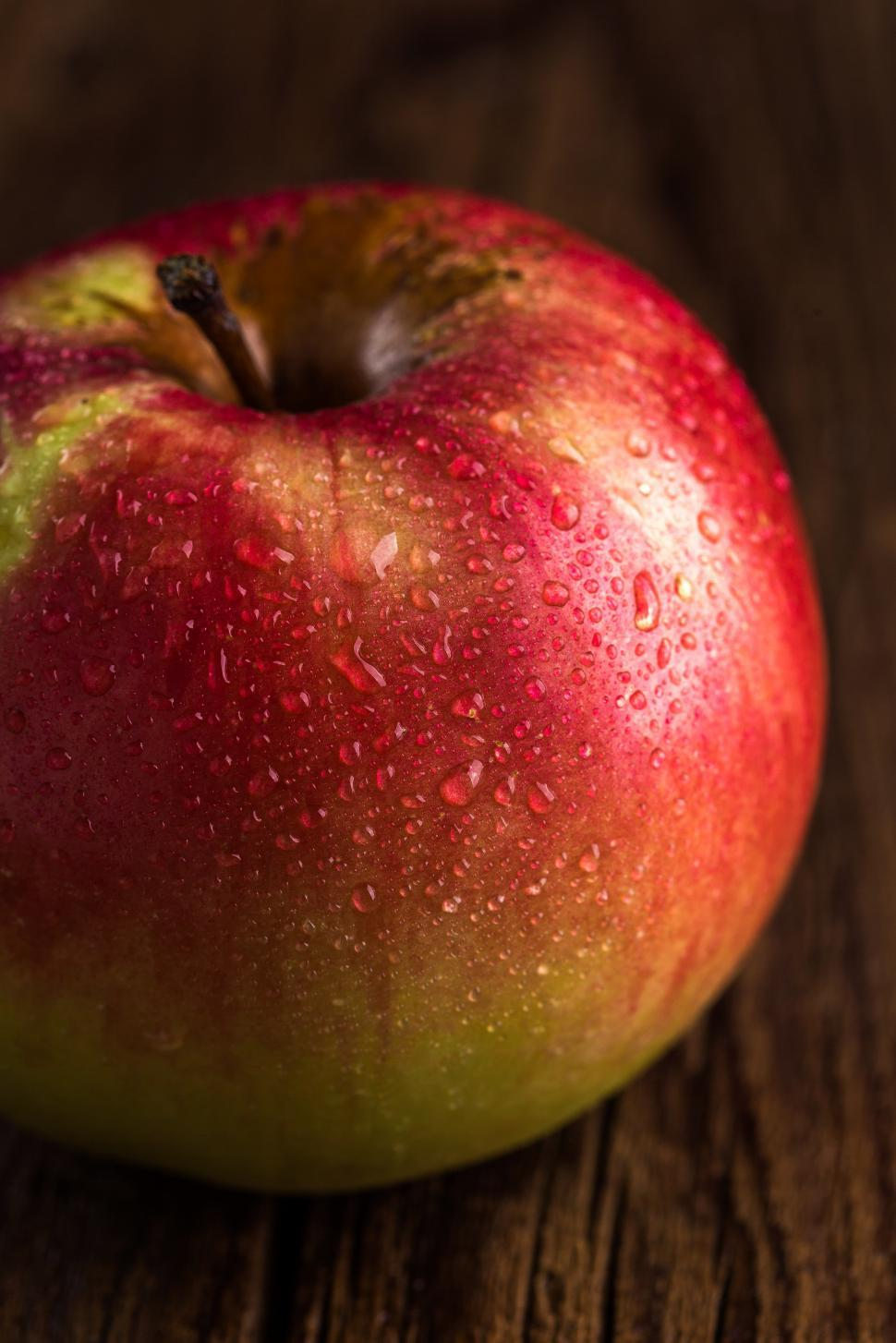 Download Free Stock HD Photo of Red Apple on table Online