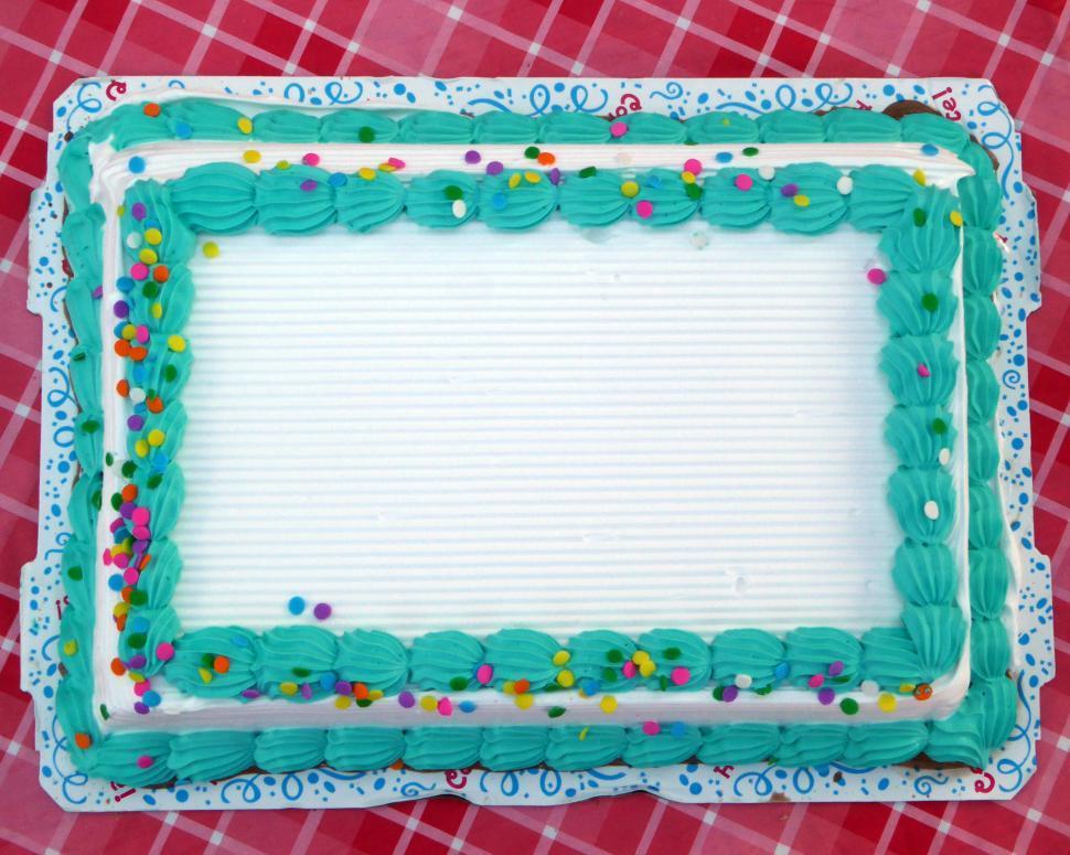 Download Free Stock HD Photo of Blank Sheet Cake Online