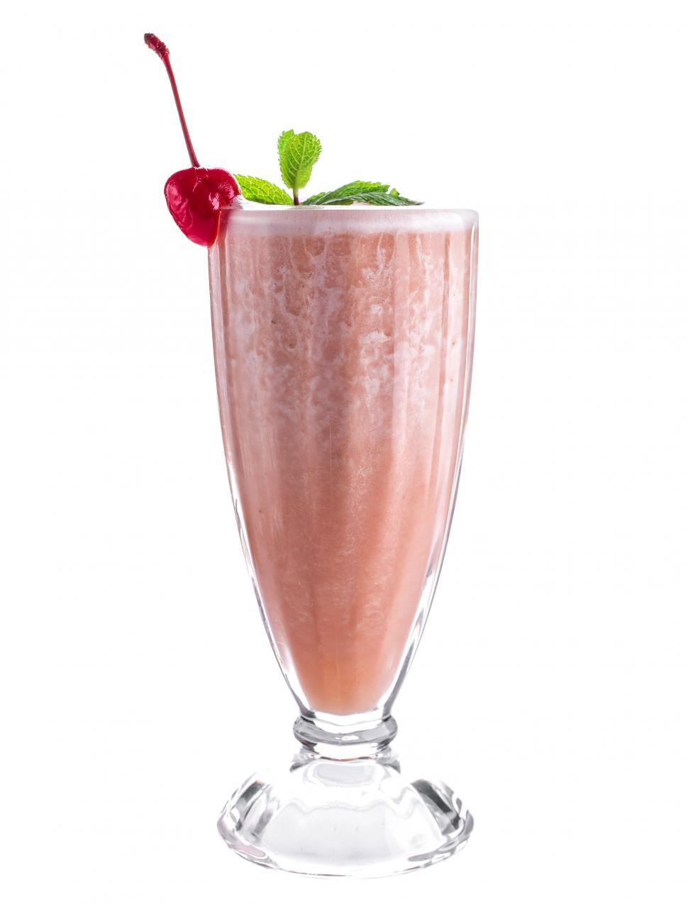 Download Free Stock HD Photo of Close up of a glass of smoothie Online
