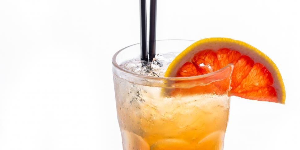 Download Free Stock HD Photo of Close up of a glass of tropical cocktail Online