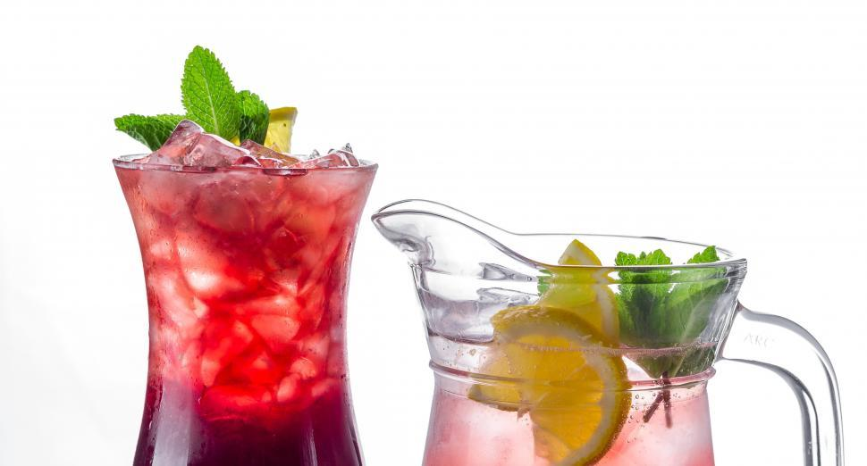 Download Free Stock Photo of Close up of tropical cocktails