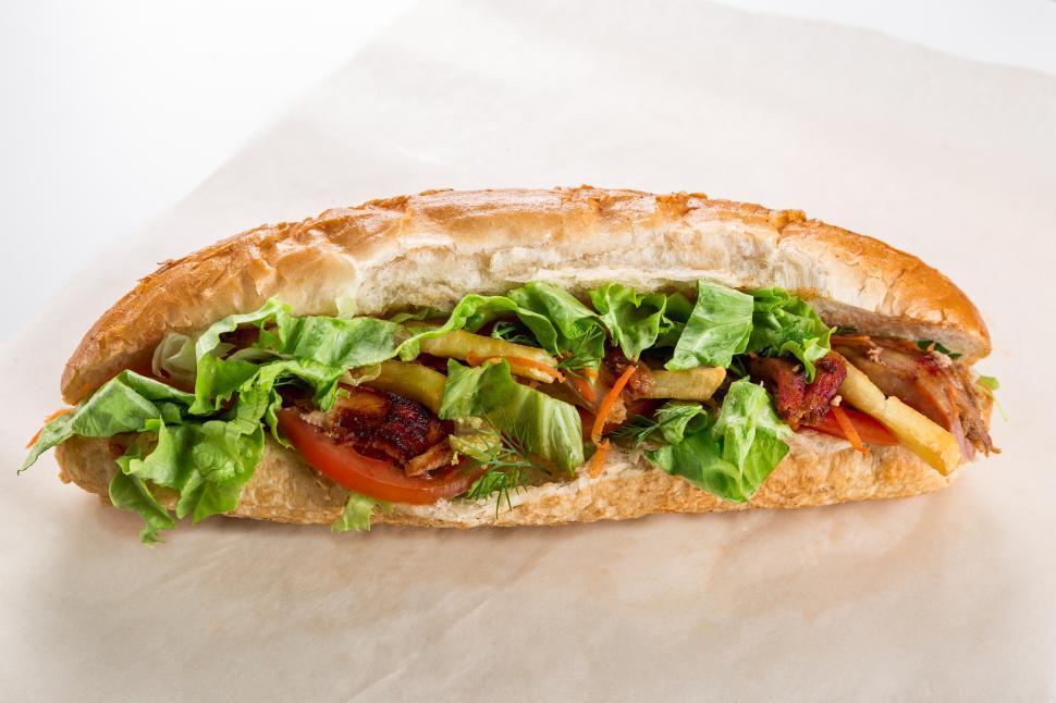 Download Free Stock Photo of Close up of a hamburger