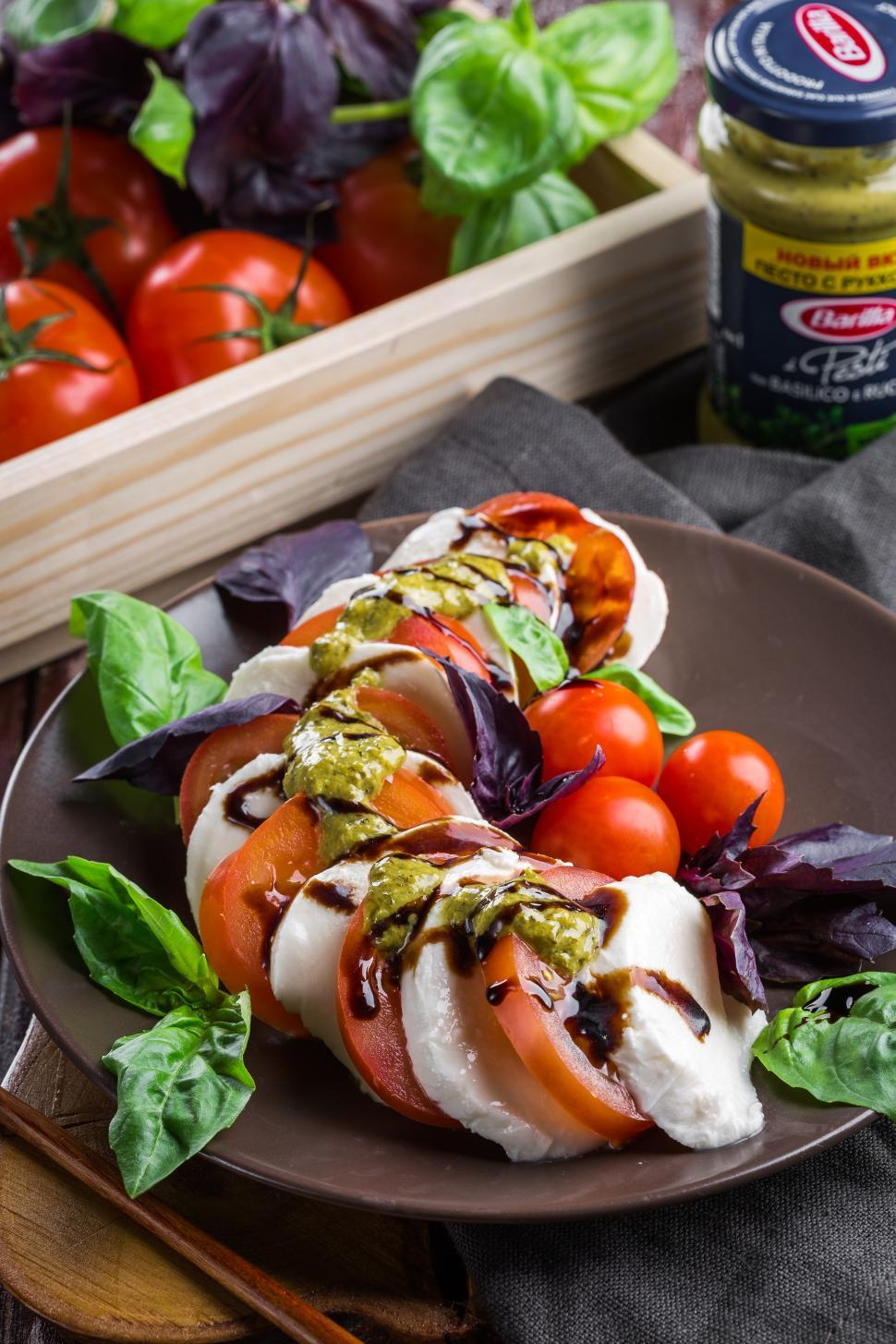 Download Free Stock Photo of Close up of Caprese salad