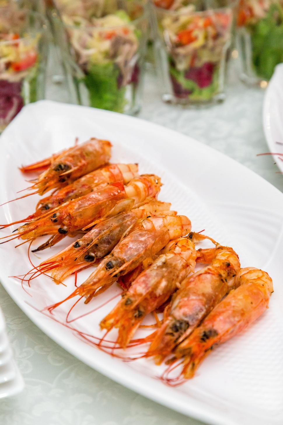 Download Free Stock HD Photo of Fresh grilled shrimps Online