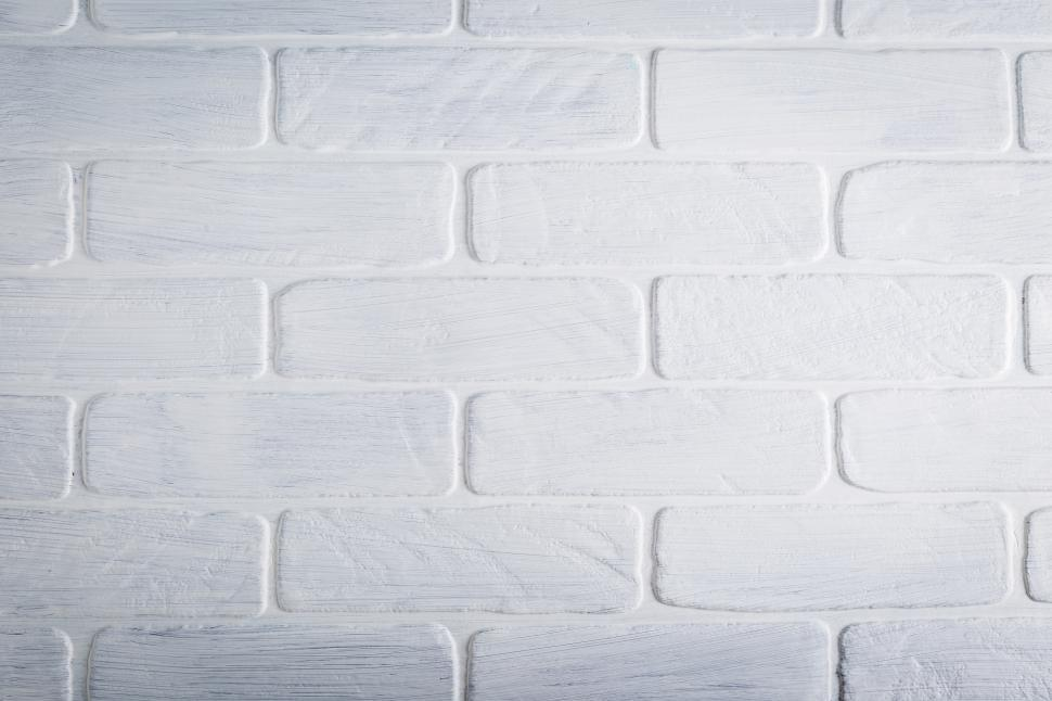 Download Free Stock HD Photo of Close up of white brick wall Online