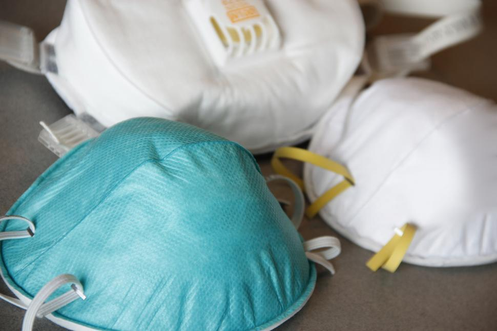 Download Free Stock Photo of Respirator Masks - PPE