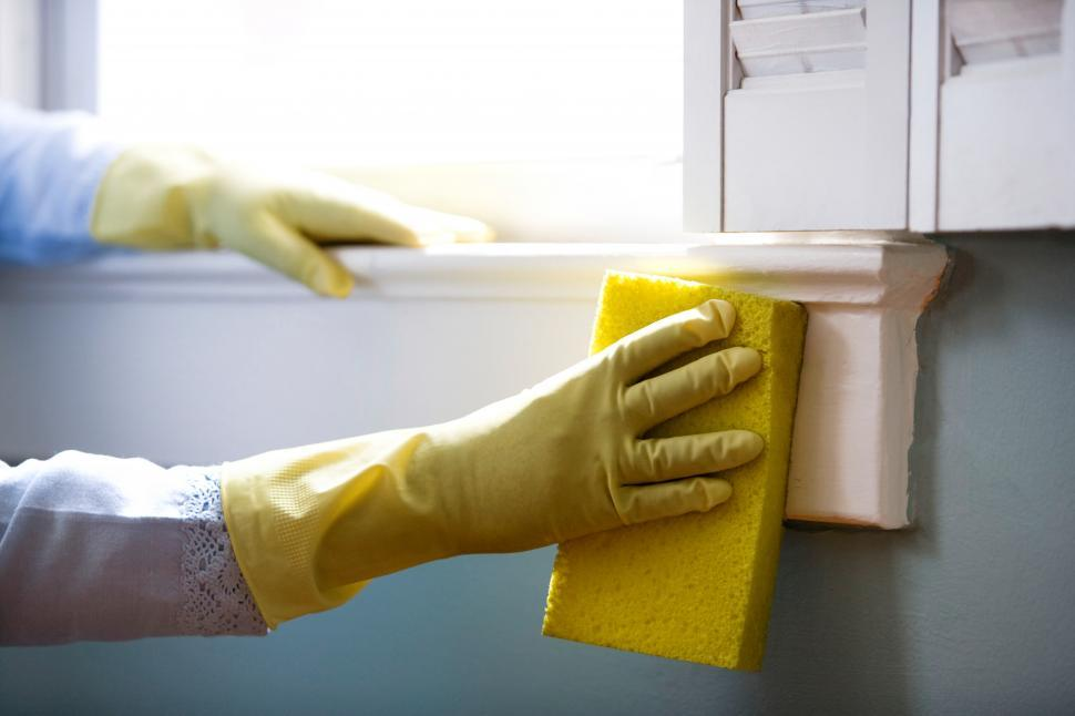 Download Free Stock Photo of Wiping down surfaces