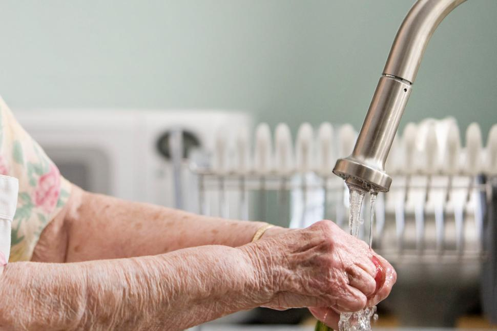 Download Free Stock Photo of Close up of hand washing