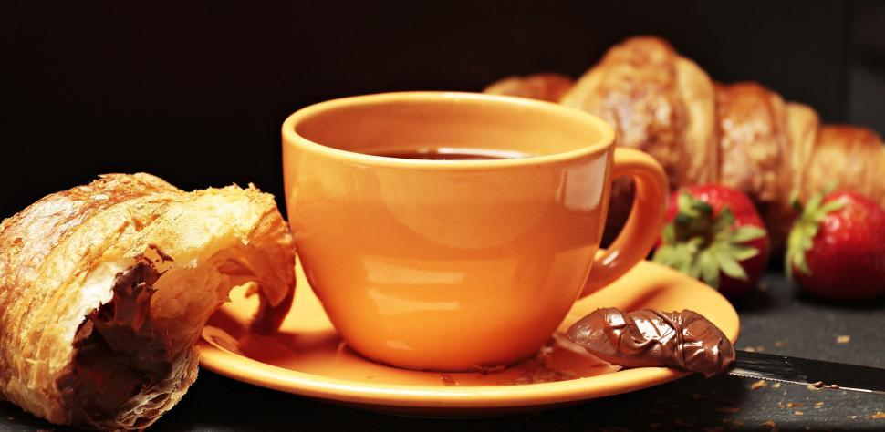 Download Free Stock Photo of Coffee and Croissants