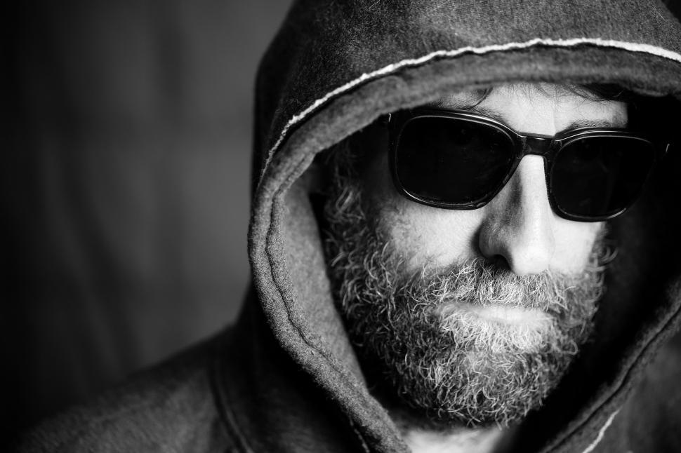 Download Free Stock Photo of Menacing Person in Hoodie and Sunglasses