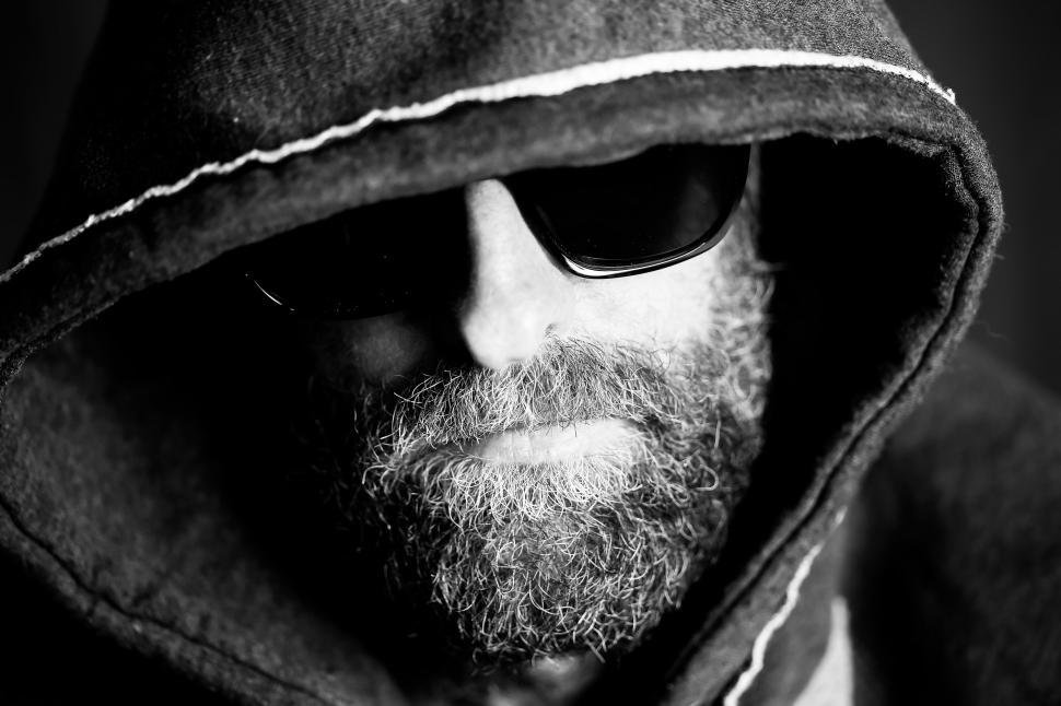 Download Free Stock HD Photo of Bearded Man in Hoodie and Sunglasses  Online
