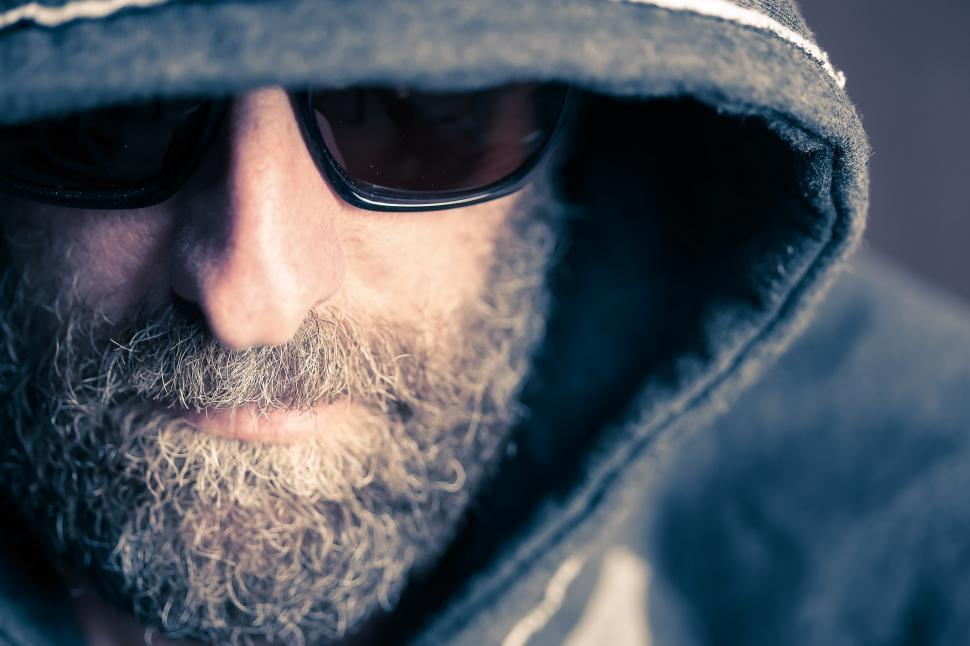 Download Free Stock Photo of MAn in Hoodie and Sunglasses, Hard to Identify