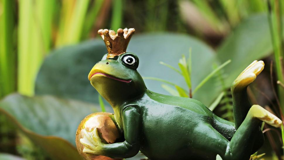 Download Free Stock Photo of Frog prince figurine
