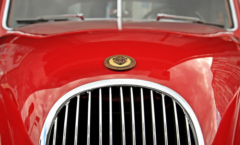 Download Free Stock HD Photo of Red classic car front end Online