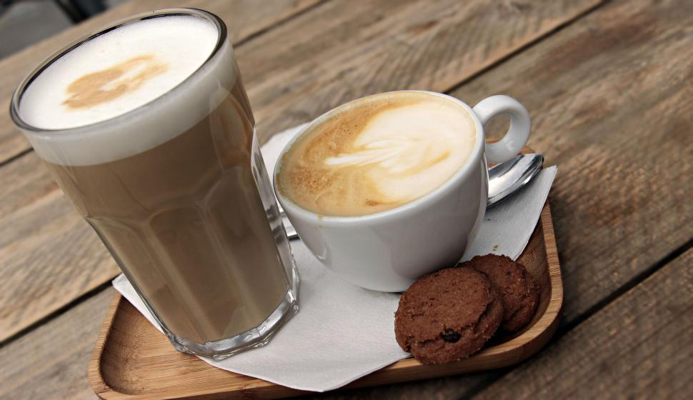 Download Free Stock HD Photo of Coffee drinks and cookies Online