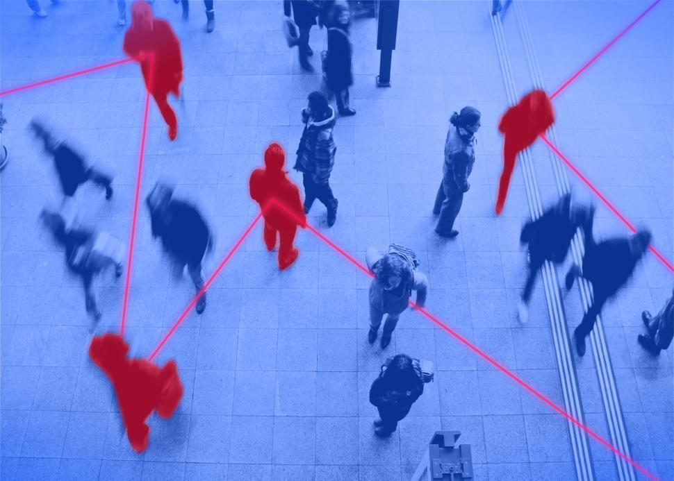 Download Free Stock Photo of People - Commuters - Contagion - Transmission - Network