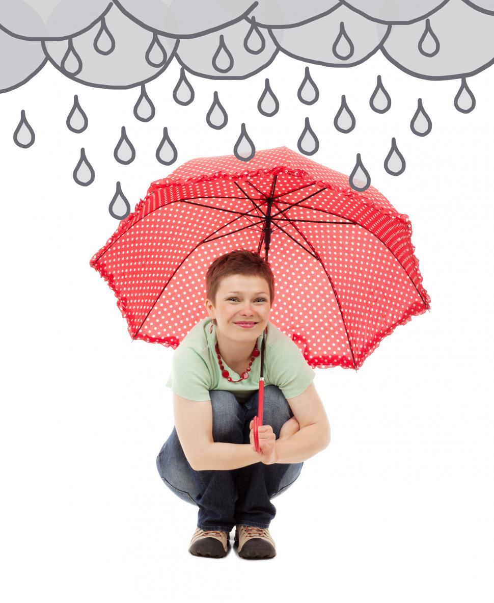 Download Free Stock Photo of Woman in the Rain