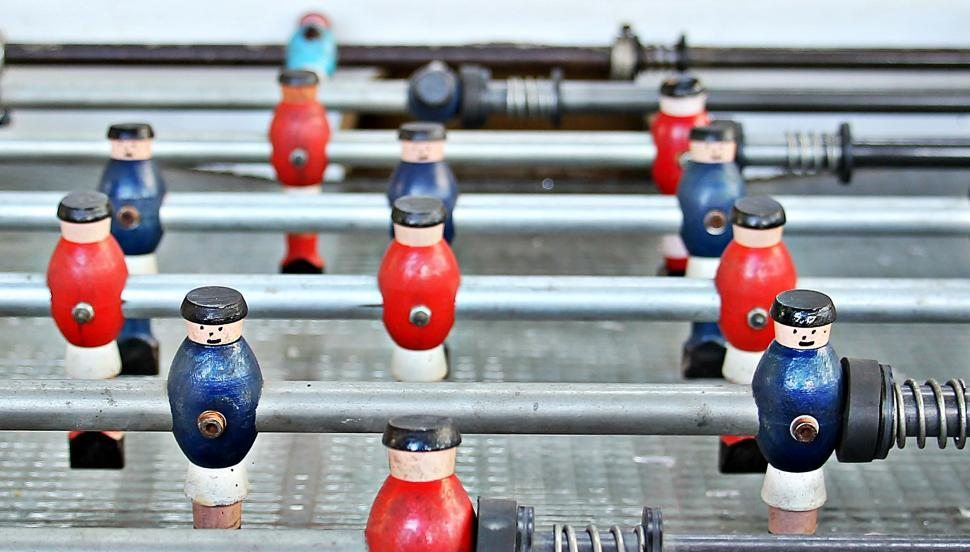 Download Free Stock HD Photo of Fooseball table figures Online
