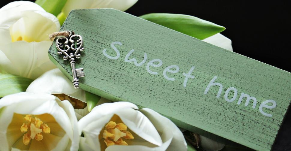Download Free Stock Photo of Sweet Home tag