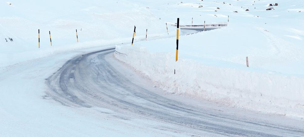Download Free Stock HD Photo of Hazardous icy winter road Online