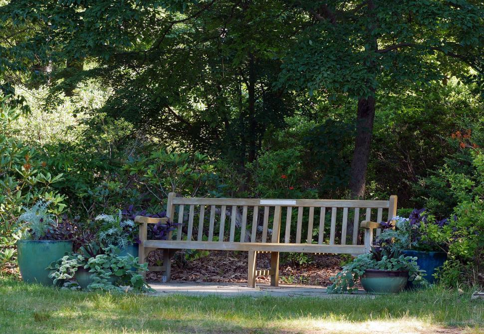 Download Free Stock HD Photo of Long Wooden Bench Online