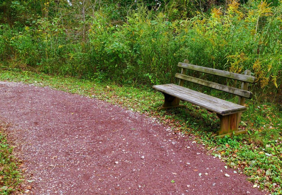 Download Free Stock Photo of Rustic Bench