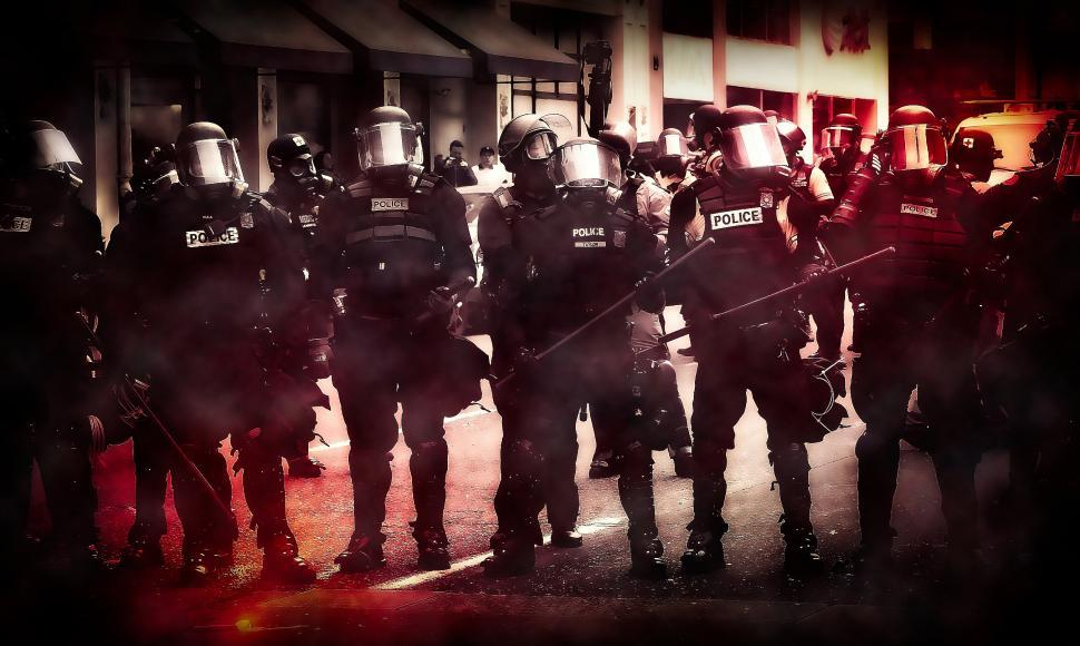 Download Free Stock Photo of Police - Riot - Protest - Insurrection - Civil Unrest