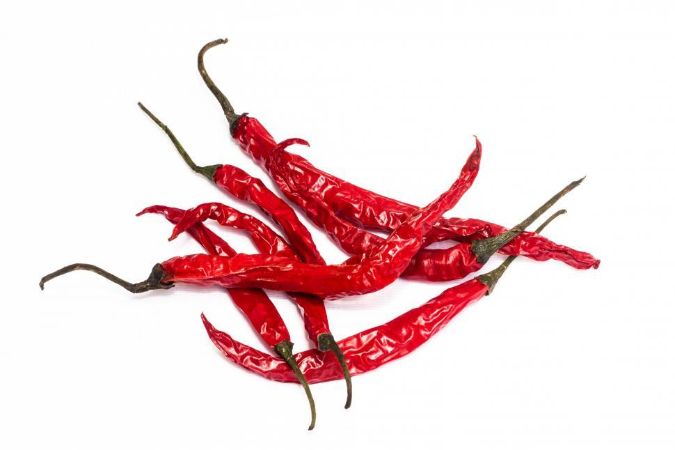 Download Free Stock Photo of Red Hot Chili  many cayenne pepper