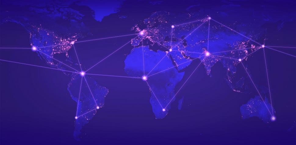 Download Free Stock Photo of Global Networks - Globalization - Digital Networks