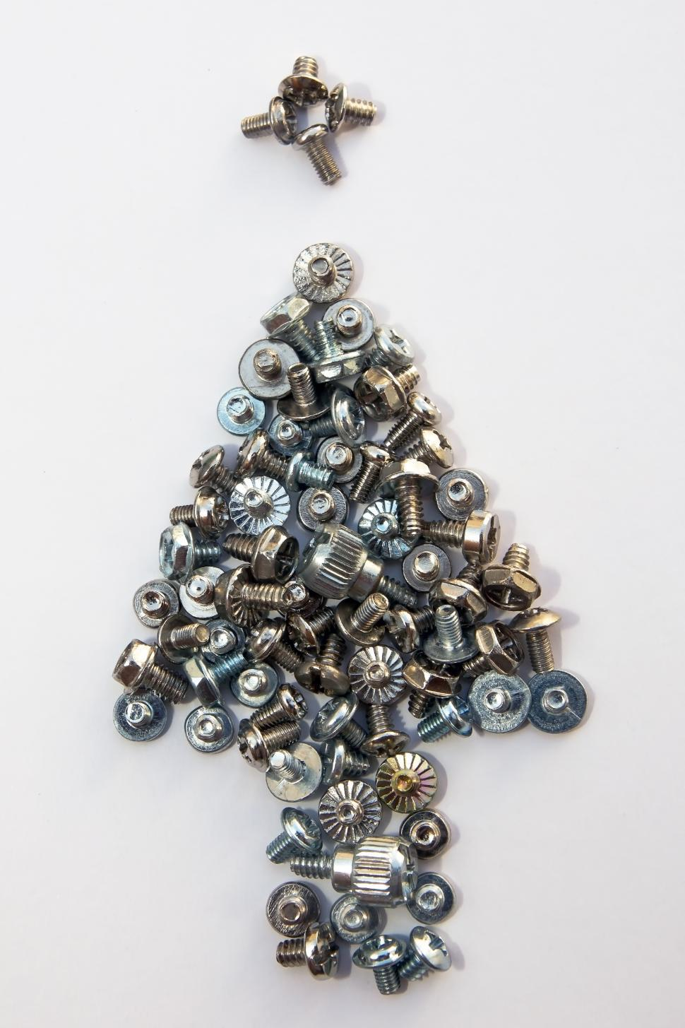 Download Free Stock HD Photo of Christmas tree from bolt and screws Online