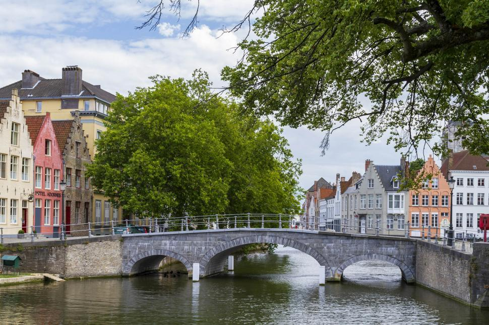Download Free Stock HD Photo of Bridge over canal Online