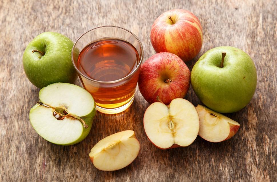 Download Free Stock HD Photo of Glass of apple juice Online