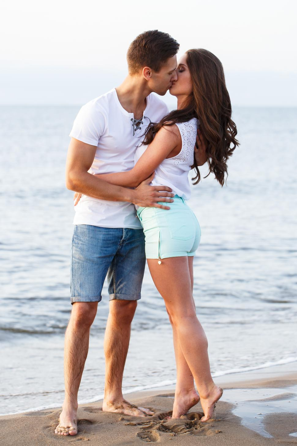 Download Free Stock Photo of A kiss on the beach