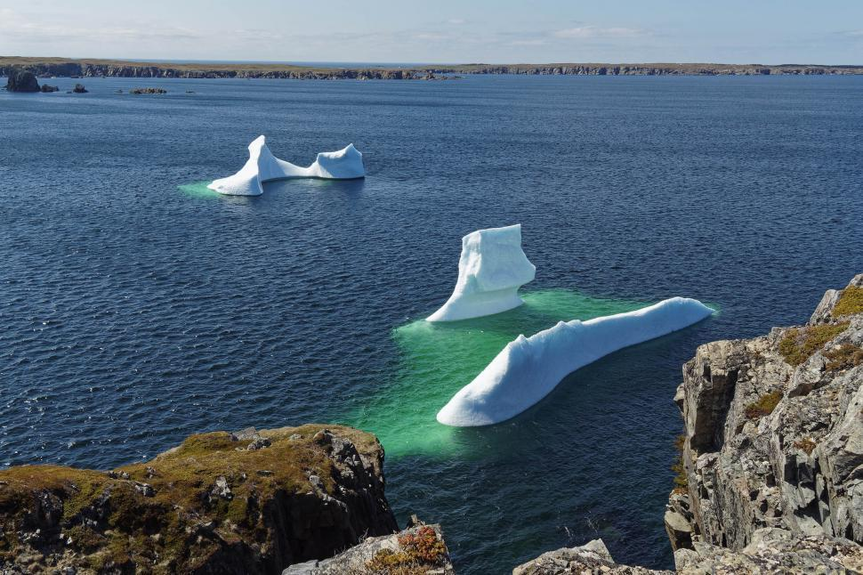 Download Free Stock Photo of Two icebergs