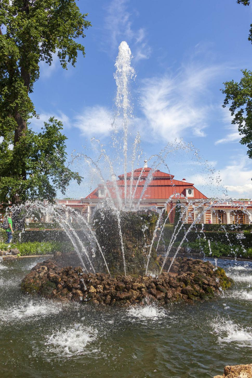 Download Free Stock Photo of Fountain with building in the background