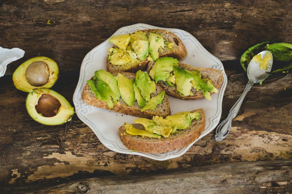 Download Free Stock Photo of Avocado toast on the table