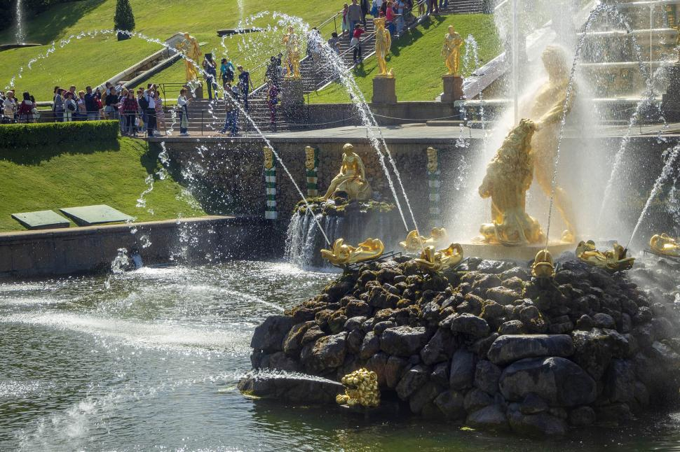 Download Free Stock Photo of Palace fountain