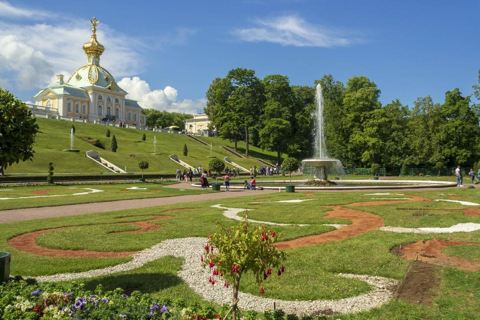 Download Free Stock Photo of Palace grounds