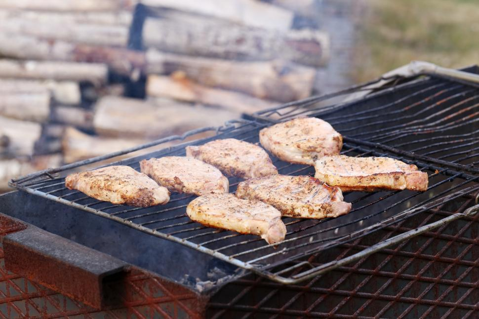 Download Free Stock HD Photo of Outdoor. Delicious barbeque on wood fire Online