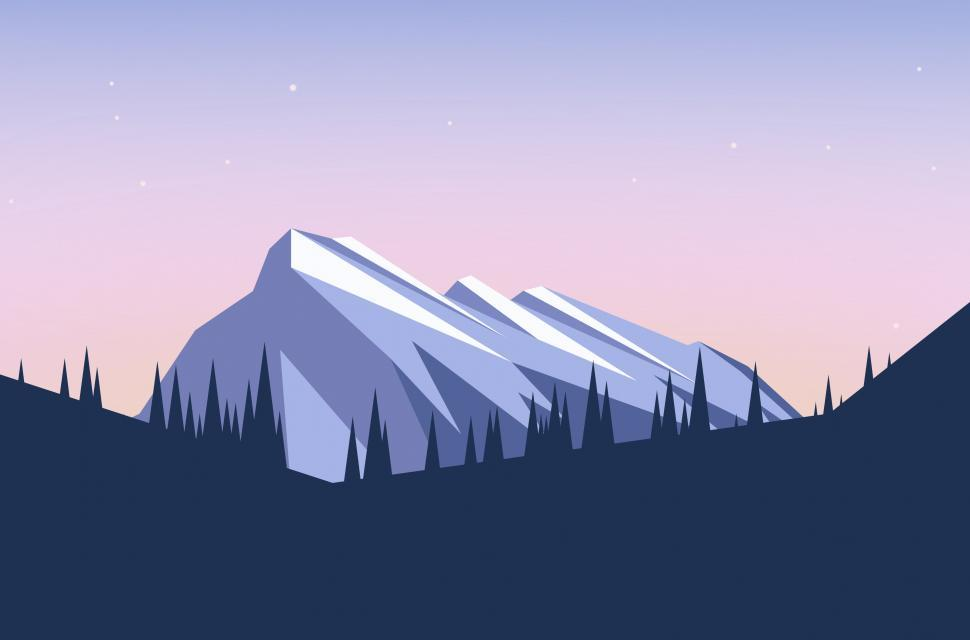 Download Free Stock HD Photo of Abstract Landscape - Abstract Mountains and Trees Online