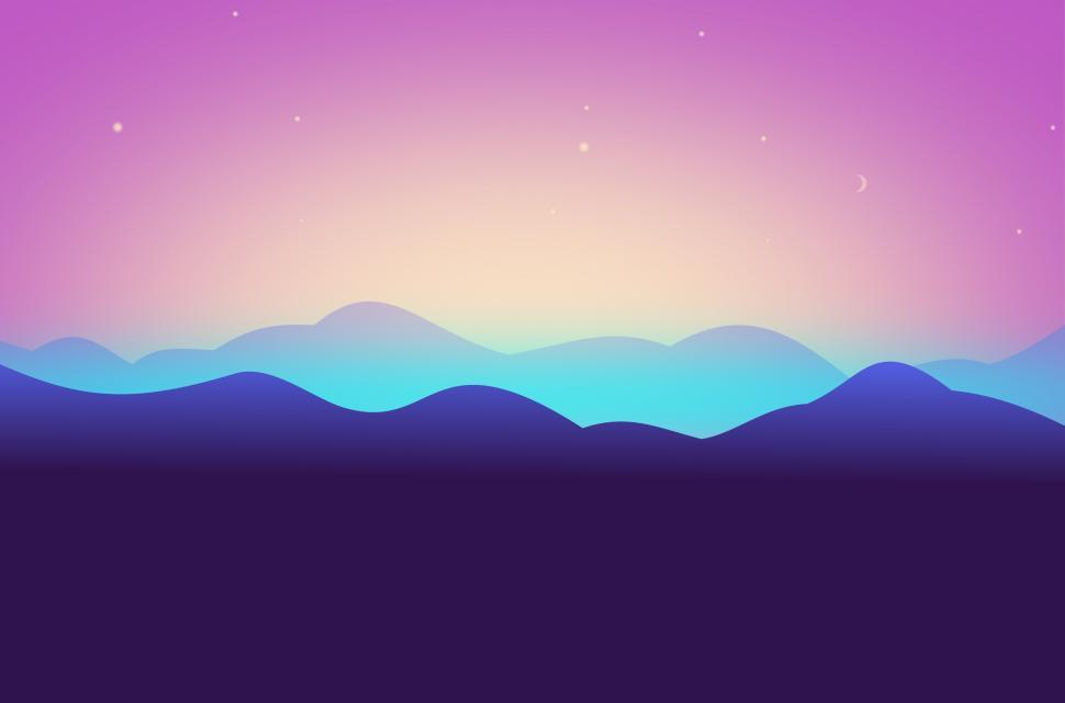 Download Free Stock Photo of Abstract Landscape - Abstract Mountains