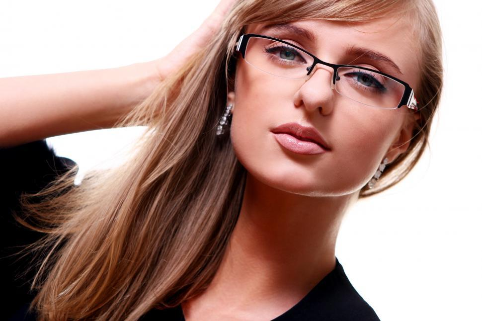 Download Free Stock HD Photo of Young businesswoman in glasses Online