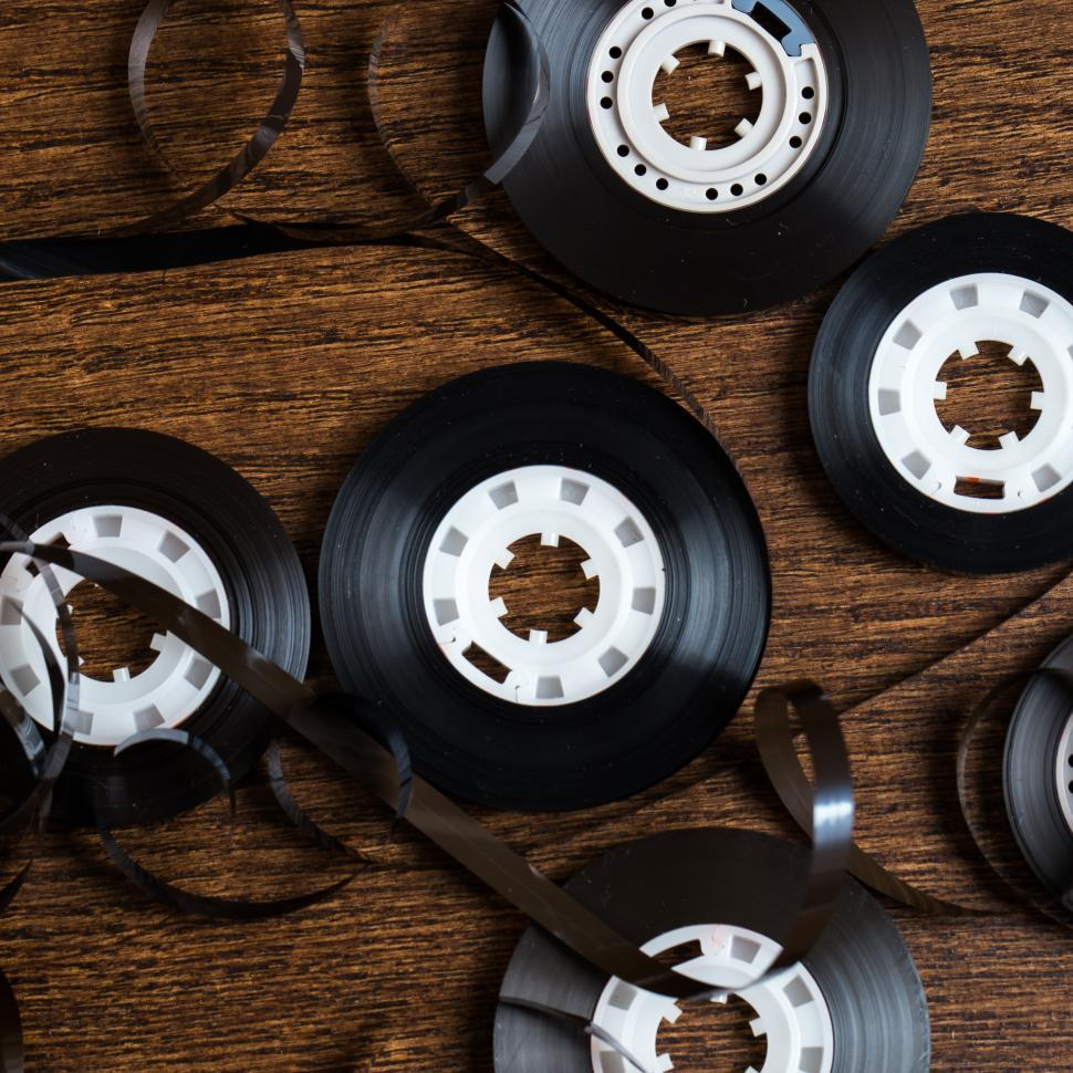 Download Free Stock HD Photo of Audio tape spools Online