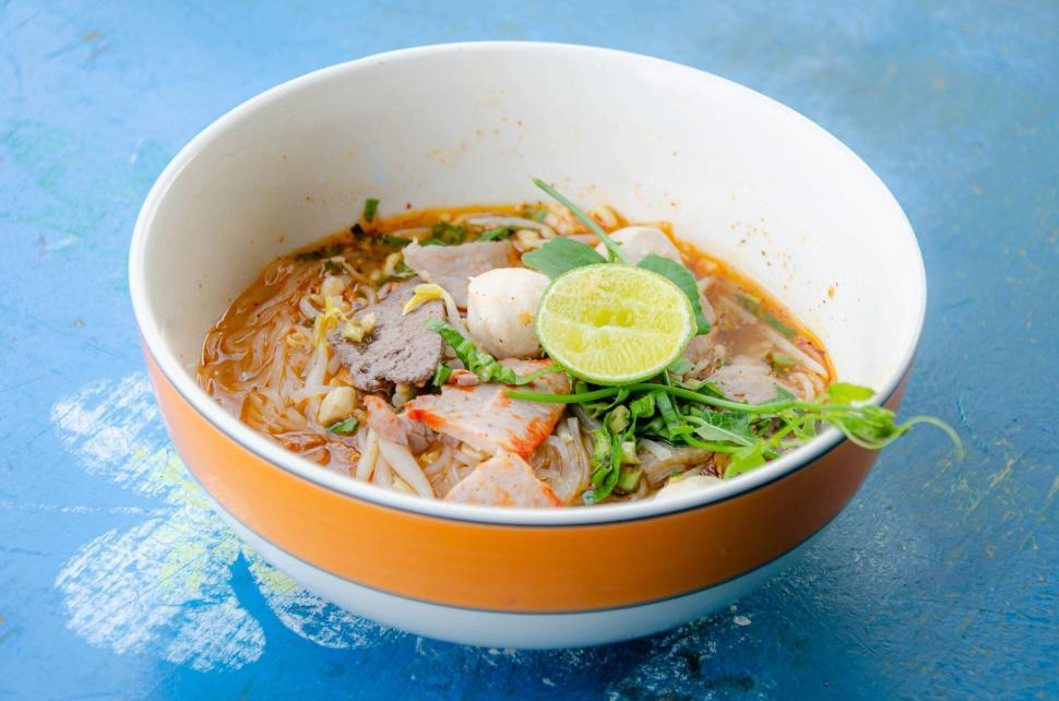 Download Free Stock HD Photo of Thai Noodle Bowl Online