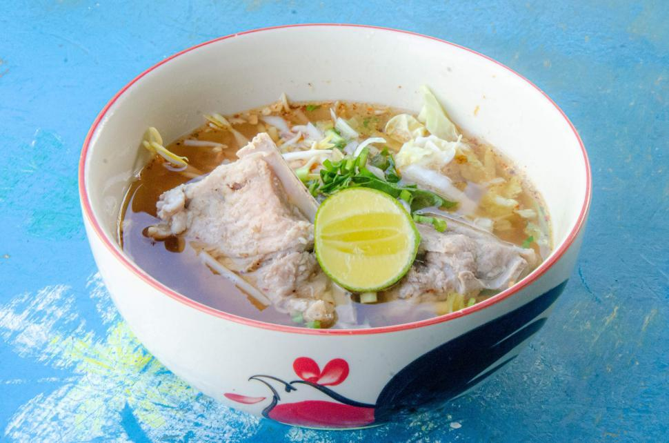 Download Free Stock Photo of Bowl of Noodle Soup